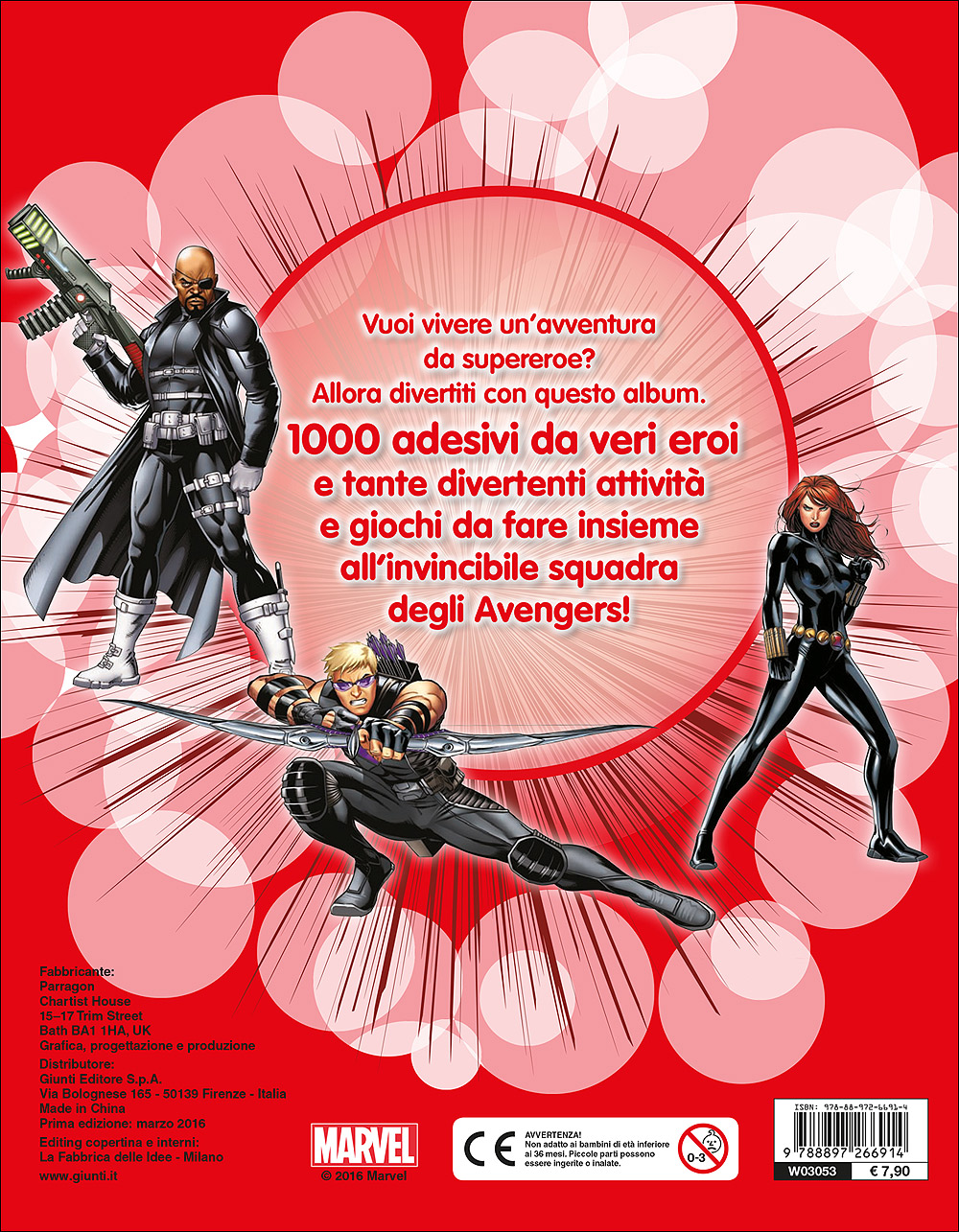 500/1000 Stickers - Avengers Assemble. 1000 Stickers