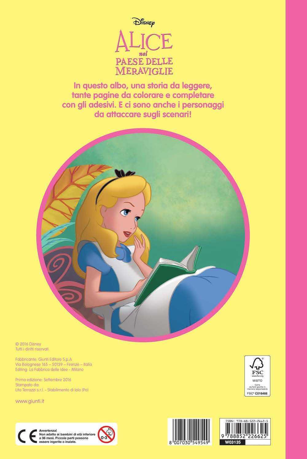 Alice nel Paese delle Meraviglie - Staccattacca&Colora