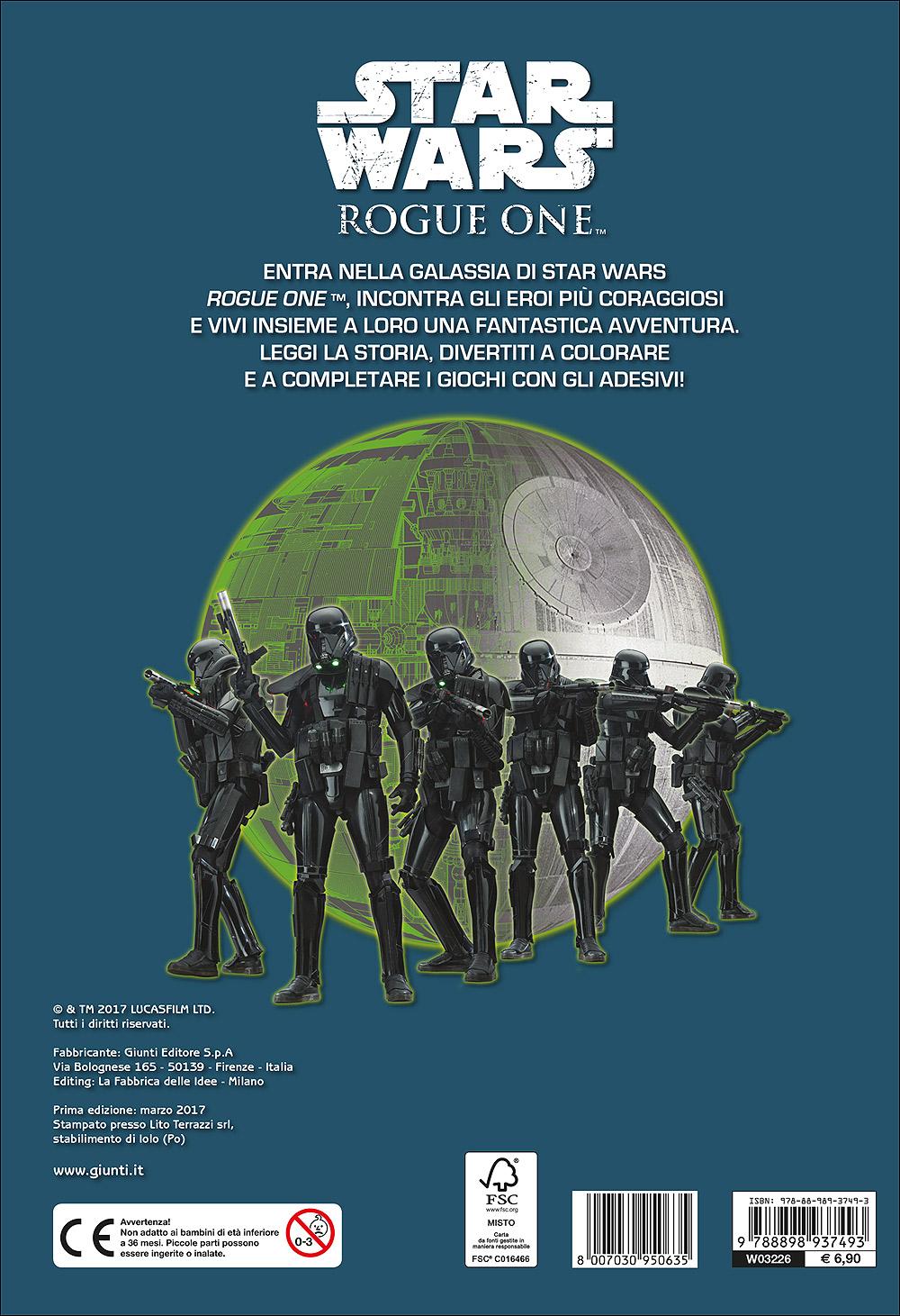 Attacca gli eroi - Star Wars Rogue One. Colora e attacca gli eroi