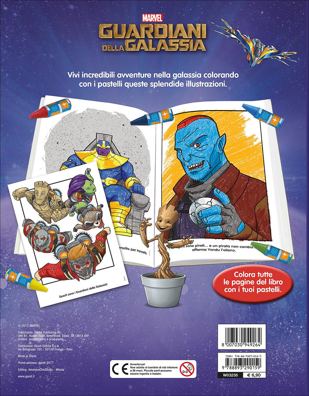 Libro Pastello - Guardiani della Galassia