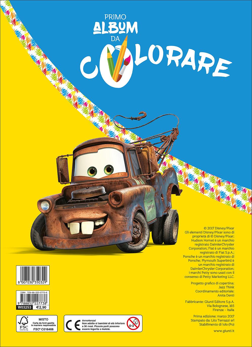 Primo Album da Colorare - Cars