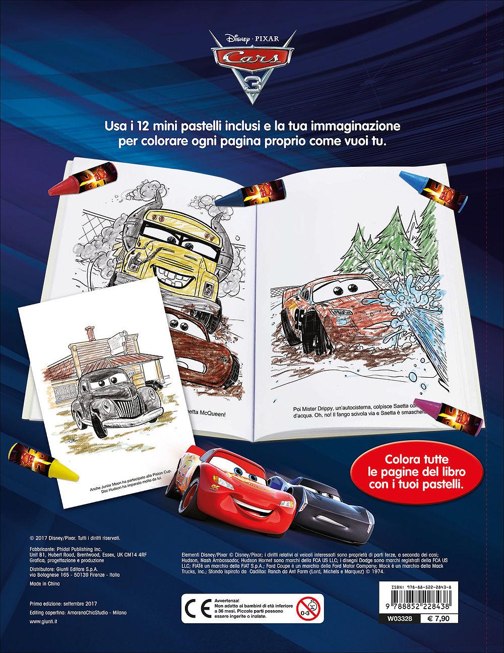 Libro Pastello - Cars 3