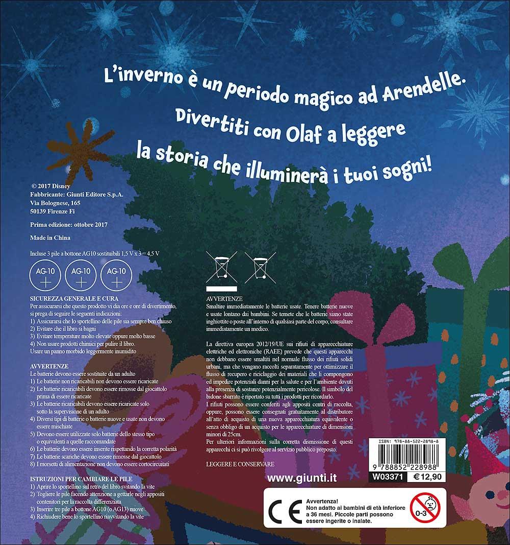 Libro con lucine - Olaf's Frozen Adventure