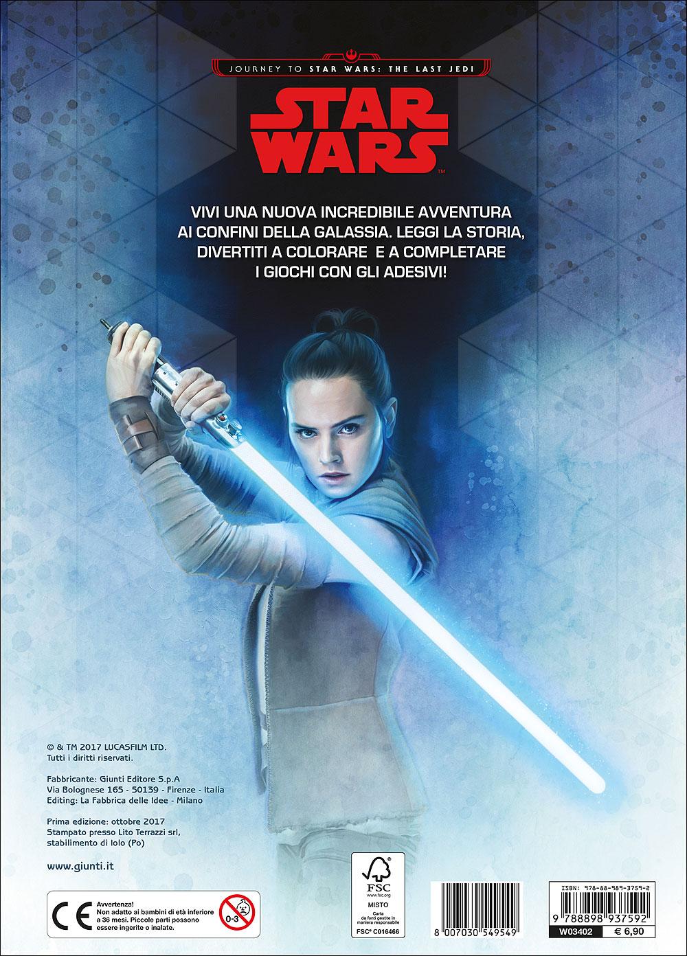 Attacca gli eroi - Journey to Star Wars. The last Jedi. Colora e attacca gli eroi