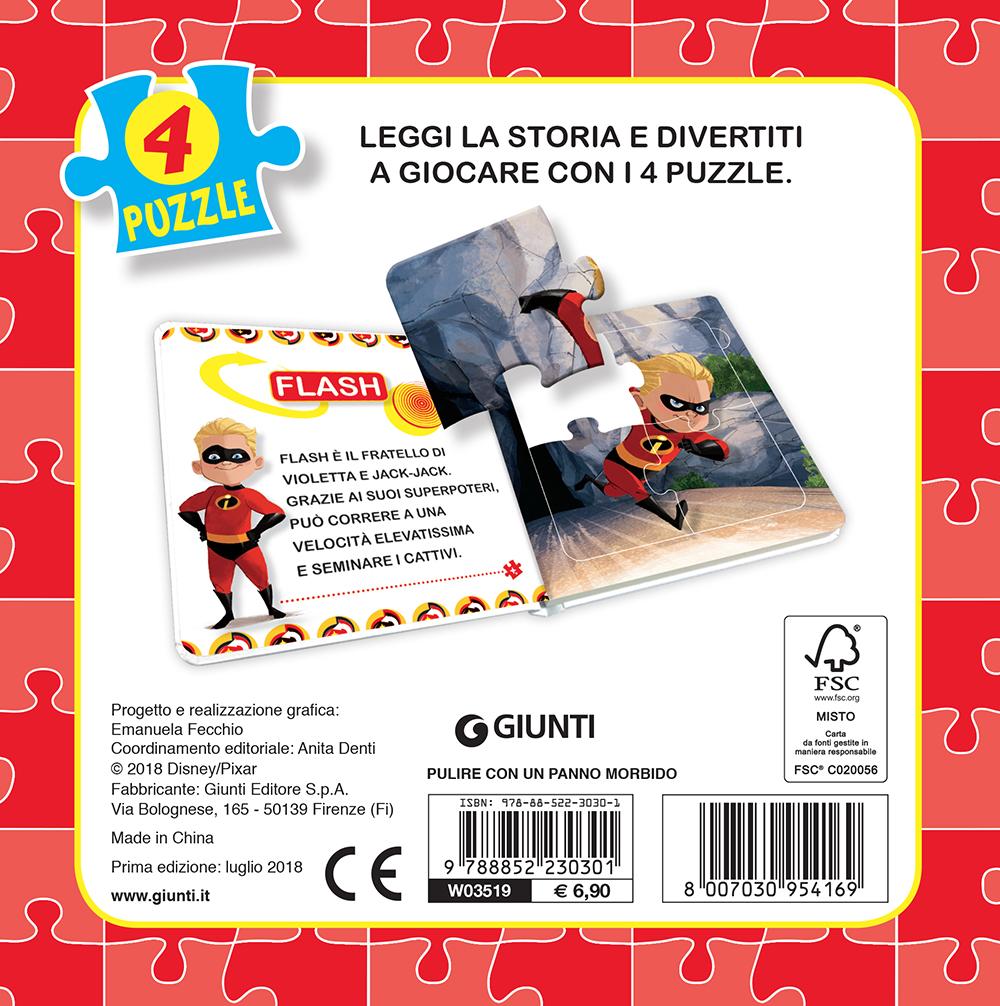 Libro Mini Puzzle - Gli Incredibili 2. Eroi in azione
