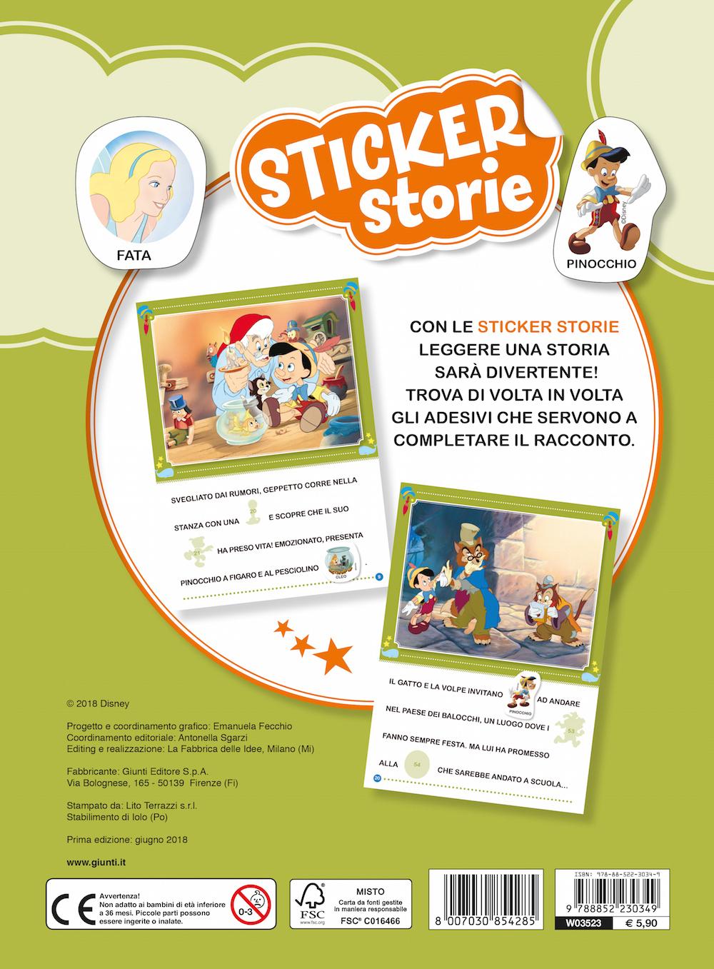 Sticker Storie - Pinocchio