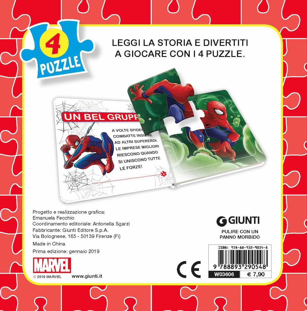 Libro Mini Puzzle - Spiderman
