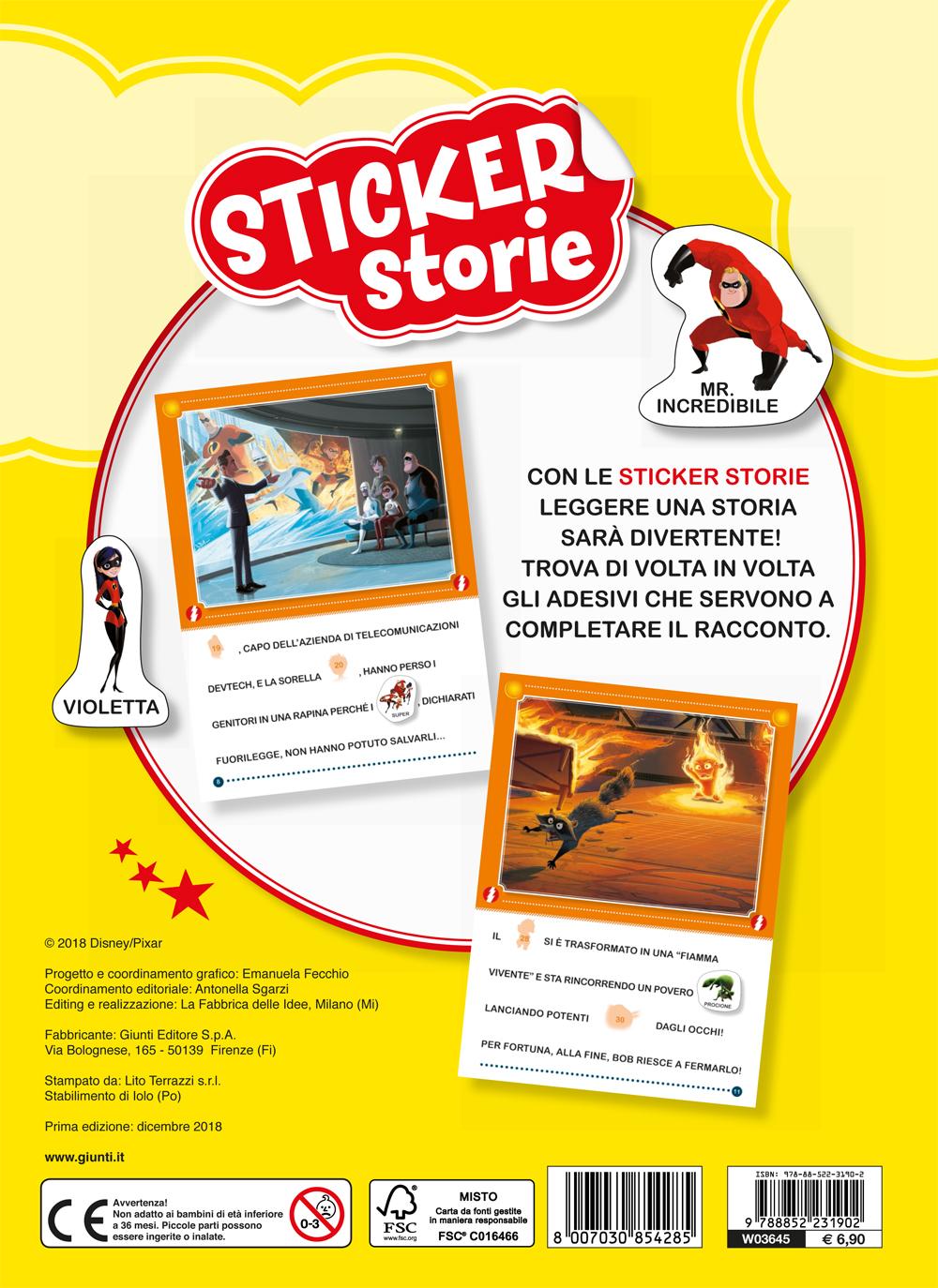 Sticker Storie - Gli Incredibili 2