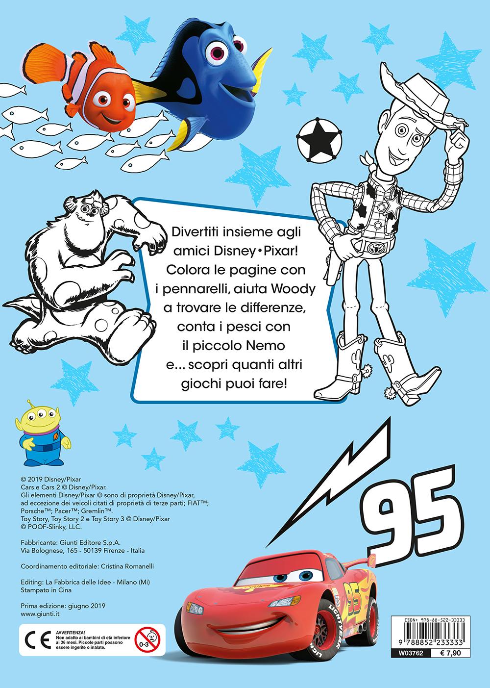 Coloriamo con i pennarelli - Disney/Pixar