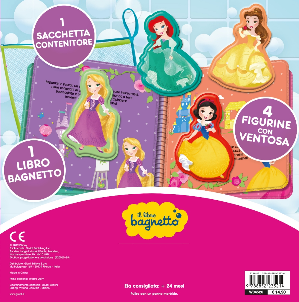 Il libro bagnetto - Disney Princess