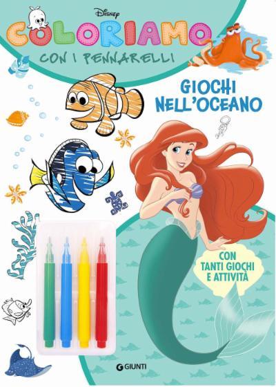 Coloriamo con i pennarelli Giochi nell'oceano