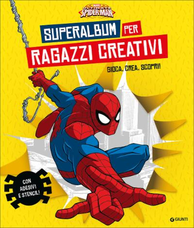 Superalbum per ragazzi creativi Spiderman Album Creativo
