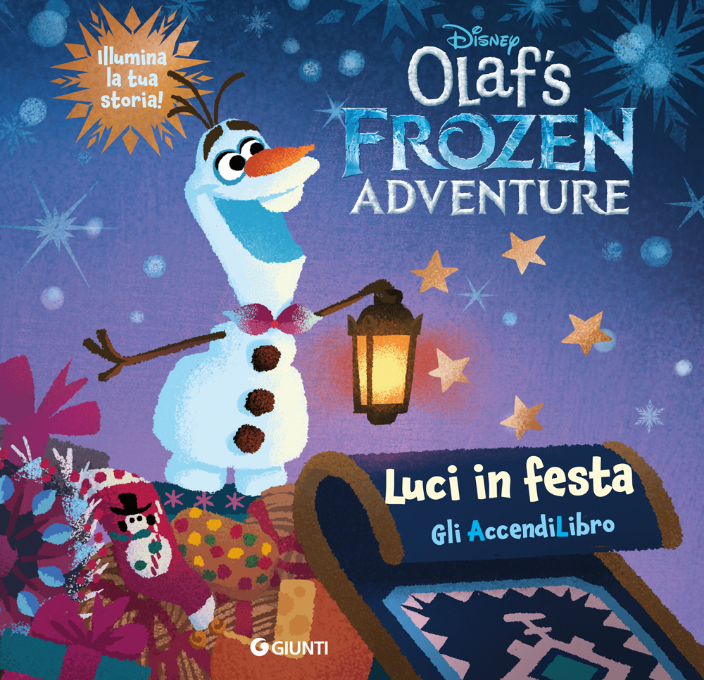 Luci in festa  Olaf's Frozen Adventure Libro con Lucine