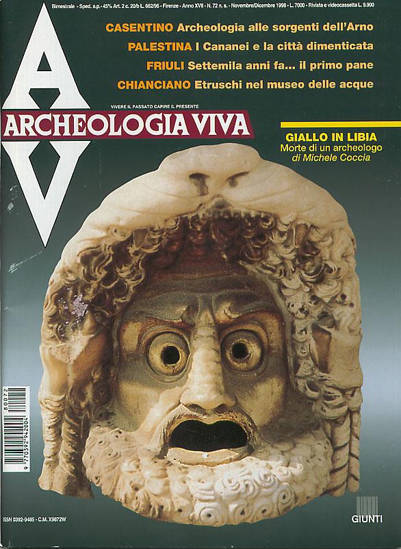 Archeologia Viva n. 72 - novembre/dicembre 1998