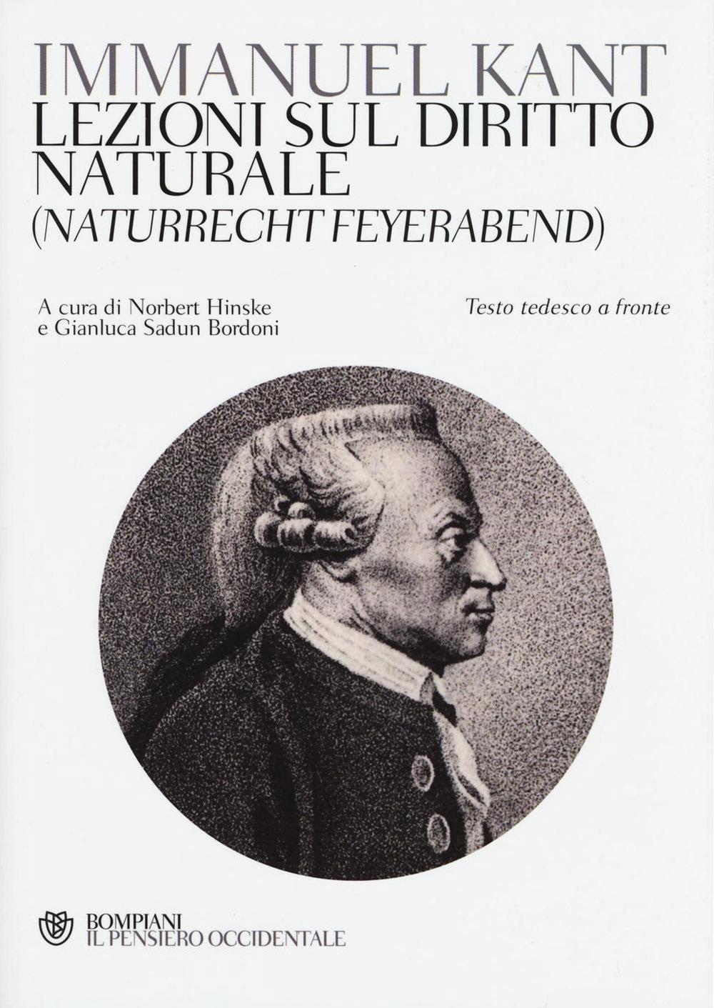 Lezioni sul diritto naturale (Naturrecht Feyerabend). Testo tedesco a fronte