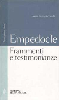 Testimonianze e frammenti. Testo greco a fronte
